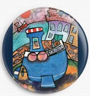Blue Boat Tenby By Dorian Davies Spencer Art Needle Minder