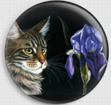 Blue Iris By Irina Garmashova-Cawton Needle Minder