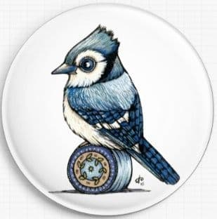 Blue Jay By Anita Inverarity Licensed Art Needle Minder