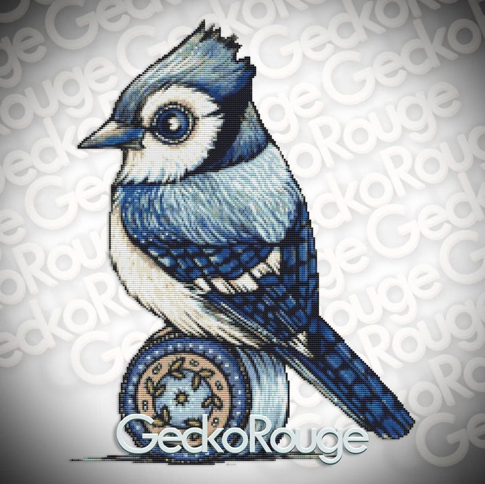 Blue Jay Wee Beastie Cross Stitch Kit by Anita Inverarity