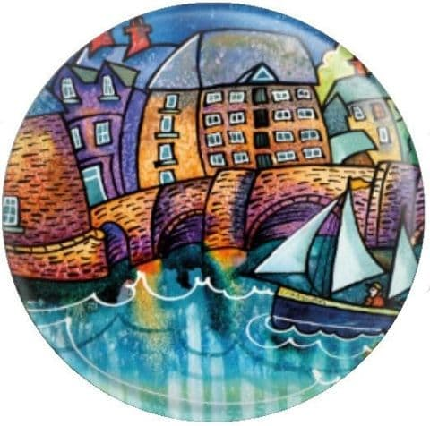 Blue Moon and Cardigan Bridge By Dorian Davies Spencer Art Needle Minder