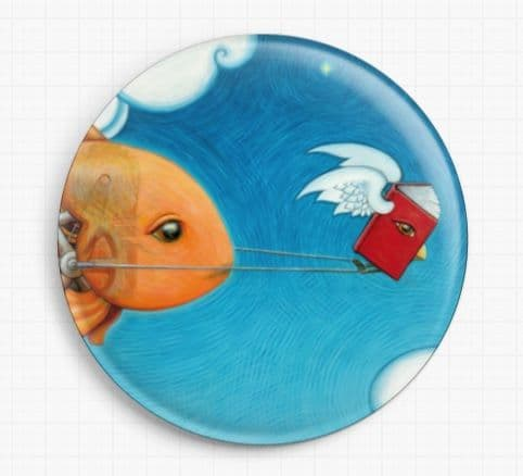 Book Fish By Eya Claire Floyd Licensed Art Needle Minder