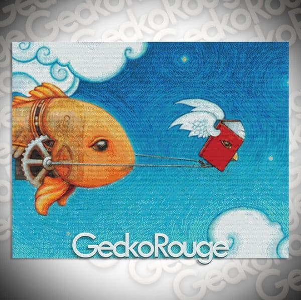 Book Fish Cross Stitch Kit By Eya Claire Floyd