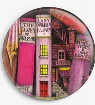 Bookshelf By Colin Thompson Licensed Art Needle Minder No: 01
