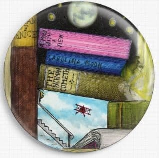 Bookshelf By Colin Thompson Licensed Art Needle Minder No: 01b