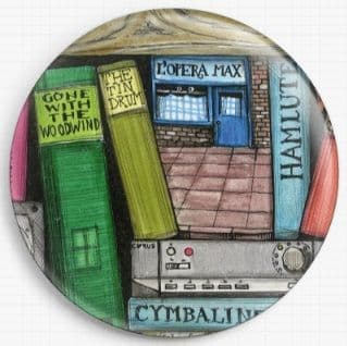 Bookshelf By Colin Thompson Licensed Art Needle Minder No: 2c