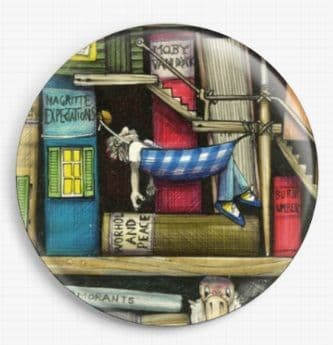 Bookshelf By Colin Thompson Licensed Art Needle Minder No: 3