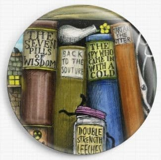 Bookshelf By Colin Thompson Licensed Art Needle Minder No: 6