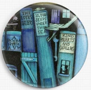 Bookshelf By Colin Thompson Licensed Art Needle Minder No: 8