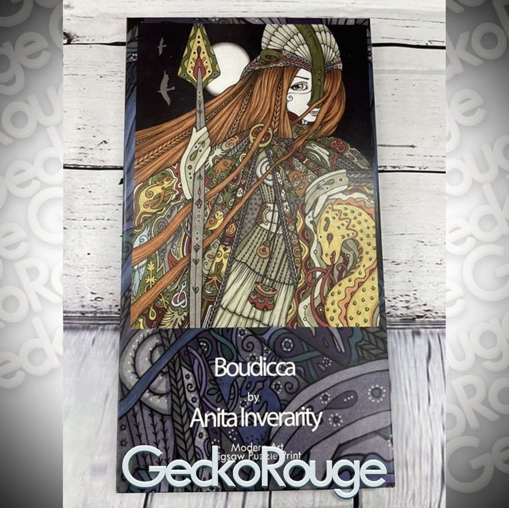 Boudicca Art Jigsaw Puzzle Print by Anita Inverarity [READY TO SHIP]
