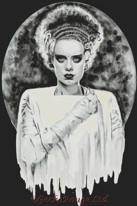 Bride 2 By Shayne Of The Dead Cross Stitch Kit