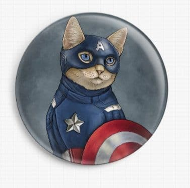 Captain AmeriCat by Jenny Parks Licensed Art Needle Minder