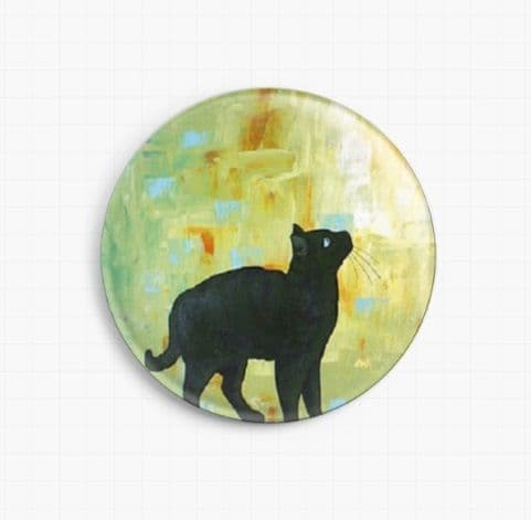 Cat And Butterfly By Robert Bretz Licensed Art Needle Minder