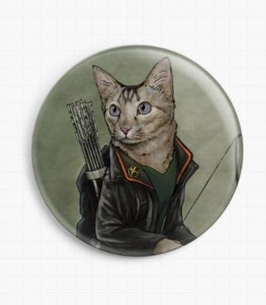Catniss by Jenny Parks Licensed Art Needle Minder