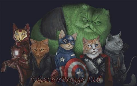 Catvengers By Jenny Parks Cross Stitch Kit