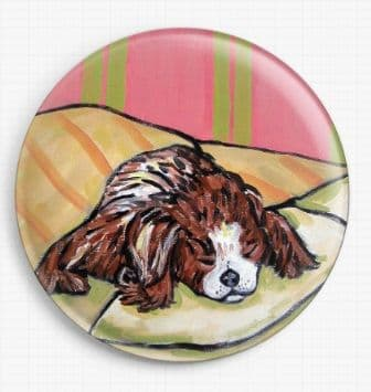 Cavalier King Charles Spaniel Dog By Jay Schmetz Licensed Art Needle Minder