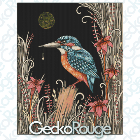 Charmed Kingfisher Cross Stitch Kit by Anita Inverarity