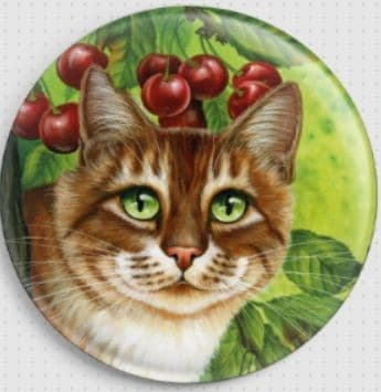 Cherries By Irina Garmashova-Cawton Needle Minder