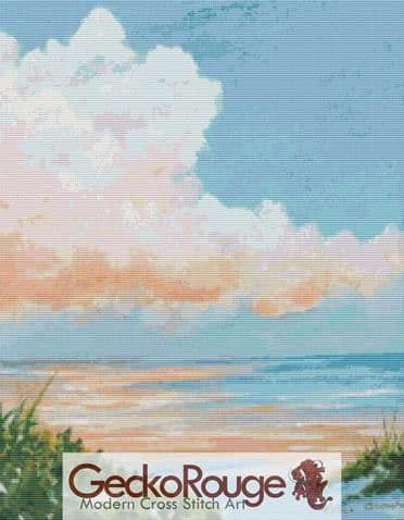 Clouds Reflected By Rosie Brown Cross Stitch Kit (RBWCLRF)
