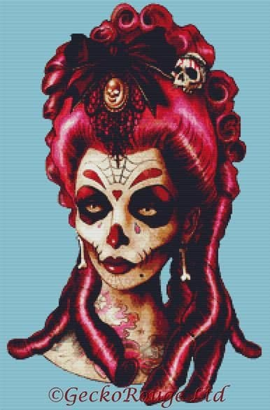 Dead Pink By Marcus Jones Cross Stitch Kit