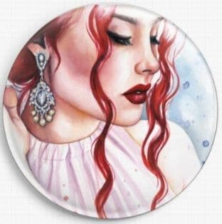 Delicate Glamour By Emily Luella Licensed Art Needle Minder