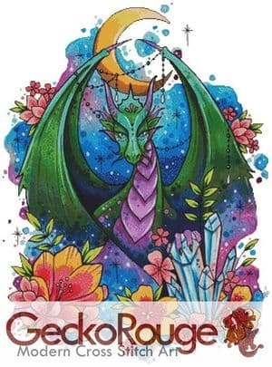 Dragon By Lorna Laine Art Counted Cross Stitch Kit
