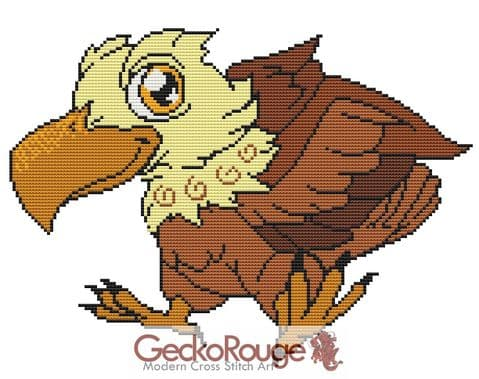Eagle By Swirlies World Counted Cross Stitch Kit