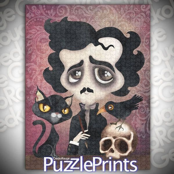Edgar Art Jigsaw Puzzle by Sandra Vargas and Puzzle Prints
