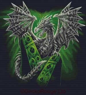 Electric Dragon By SheBlackDragon Cross Stitch Kit