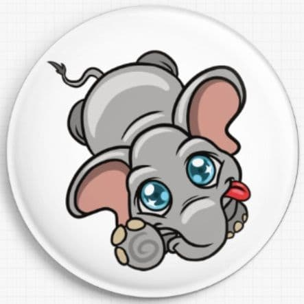 Elephant Swirlies World Needle Minder