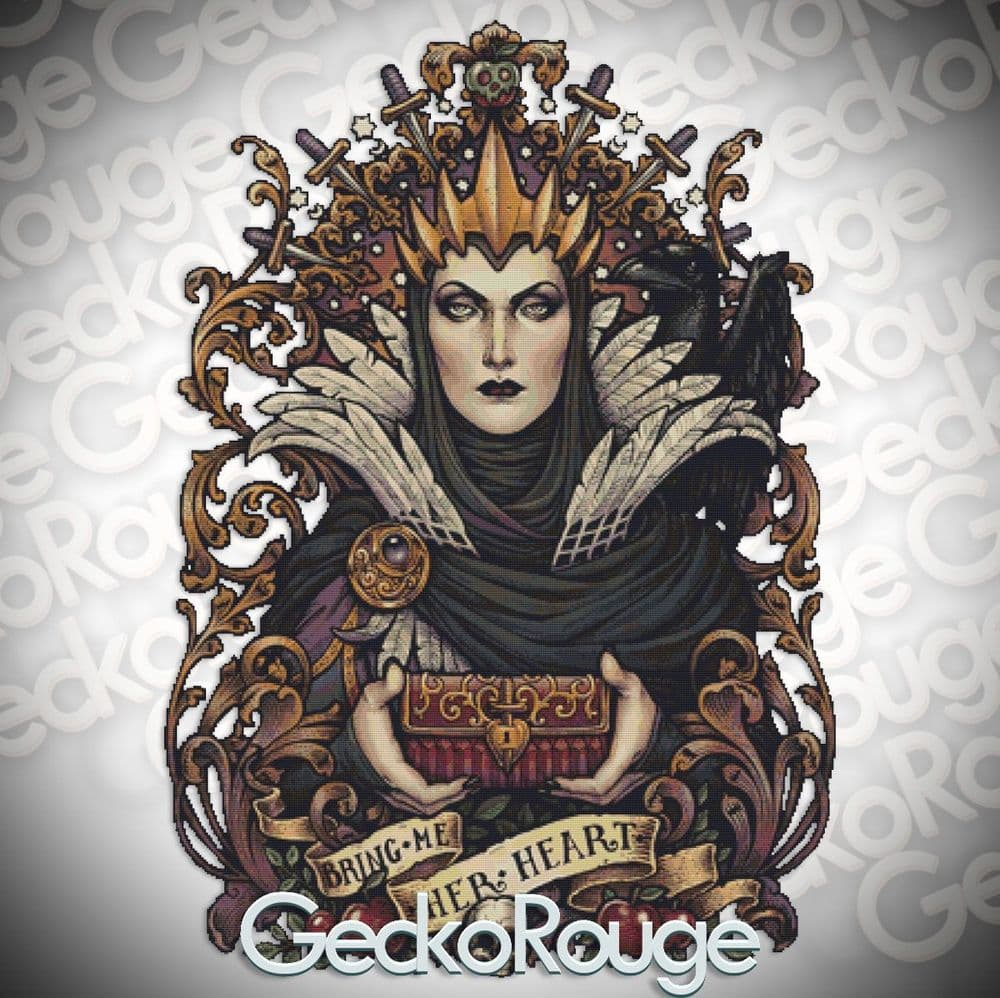 Evil Queen by Medusa Dollmaker Modern Cross Stitch Art Kit