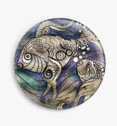 Fish By Pamela Varacek Licensed Art Needle Minder