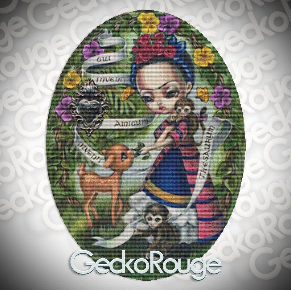 Frida in the Garden Cross Stitch Kit By Simona Candini (SCFRDA)