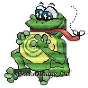Frog - Swirlies World Counted Cross Stitch Kit