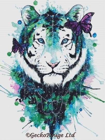 Galaxy Tiger Cross Stitch Kit By Scandy Girl (JLSGGXTI