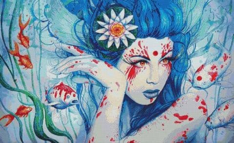 Goddess Of Koi By Jonas Joedicke Cross Stitch Kit ( JJGDKOI)