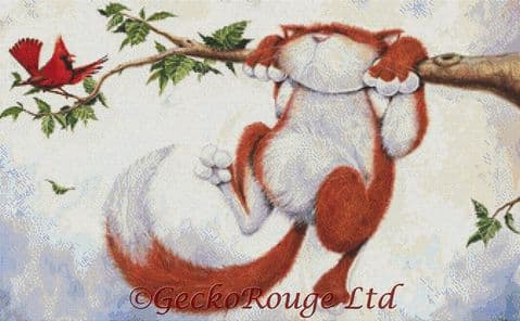Hang On In There By David Smith Cross Stitch Kit - Dangle Cat