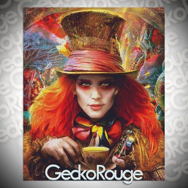 Hatter By Omri Koresh Modern Cross Stitch Art Kit [READY TO SHIP]