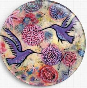 Hummingbird Garden  By Lindy Gaskill Licensed Art Needle Minder