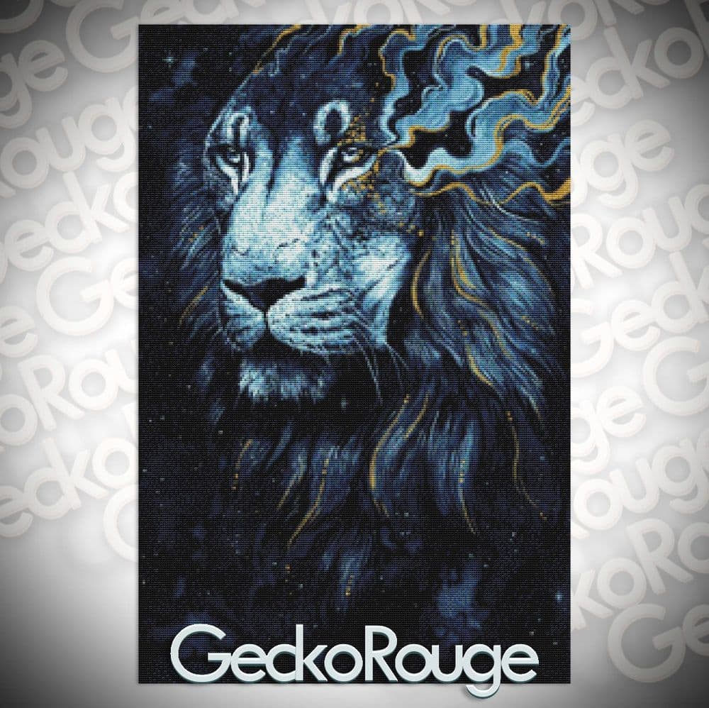 In the Darkness Lion Cross Stitch Kit by Scandy Girl