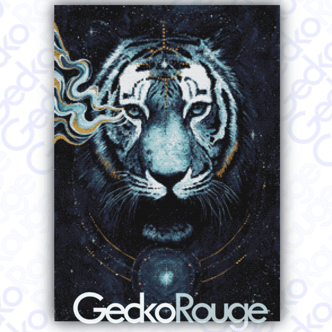 In the Darkness Tiger Cross Stitch Kit by Scandy Girl