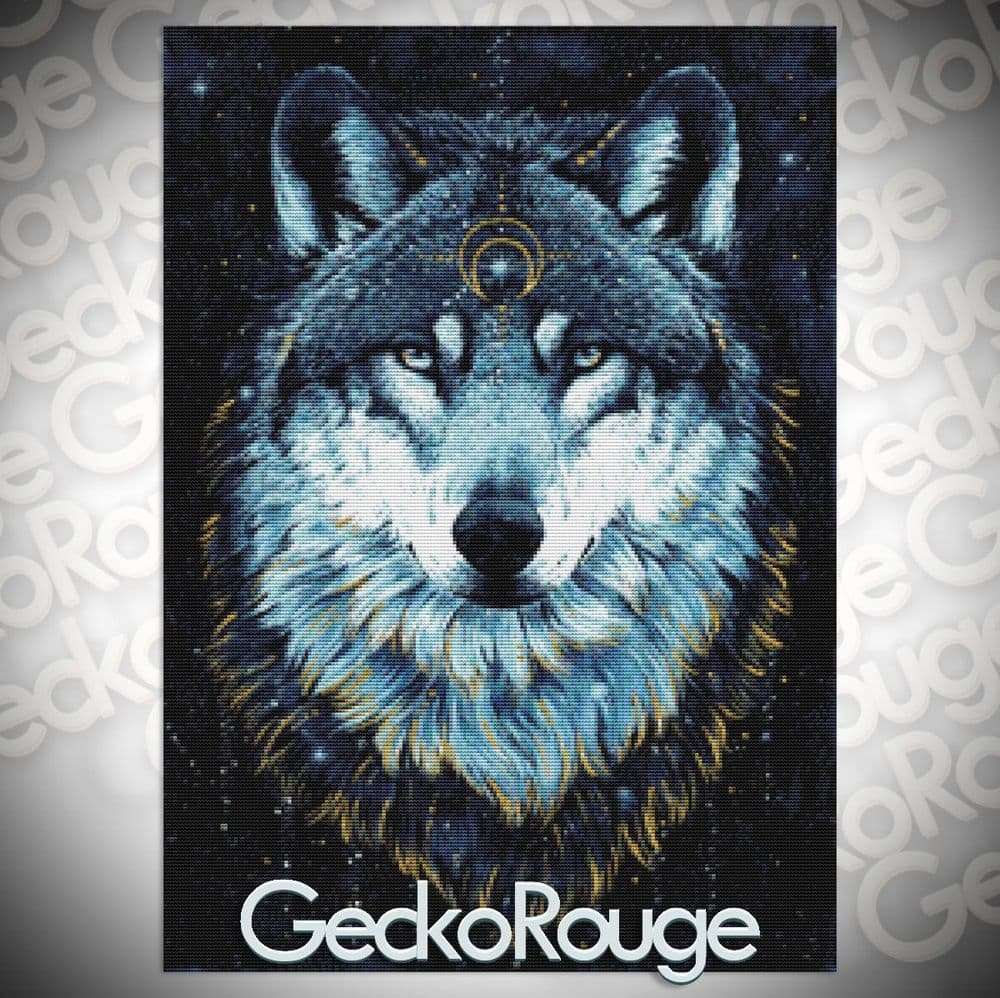 In the Darkness Wolf Cross Stitch Kit by Scandy Girl