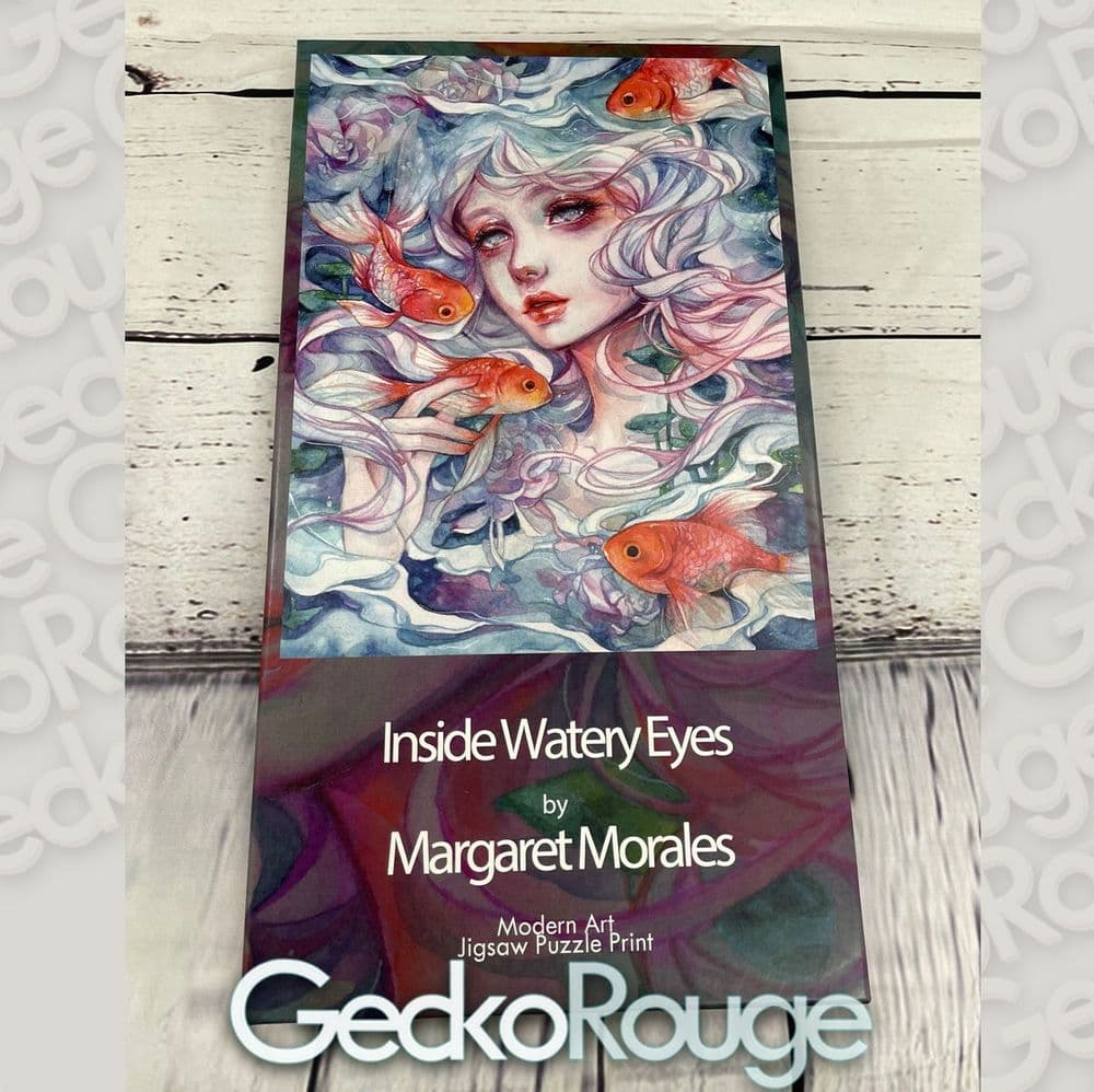 Inside Watery Eyes by Margaret Morales  Art Jigsaw Puzzle Print [READY TO SHIP]