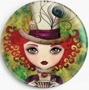 Lady Hatter By Sandra Vargas Licensed Art Needle Minder