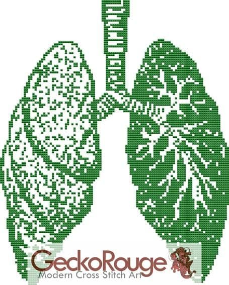 Lungs Counted Cross Stitch Kit (FSLNG702)