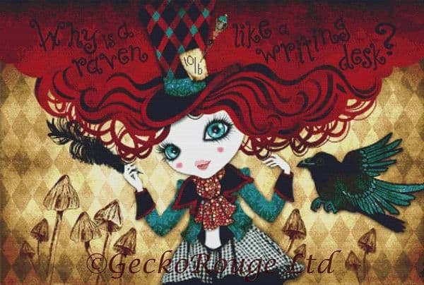 Mad Riddle by Sandra Vargas Cross Stitch Kit