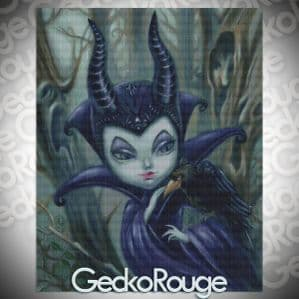 Maleficent by Simona Candini Modern Cross Stitch Art Kit