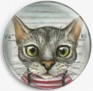Mugshot of a cat felon arrested while attempting a New York bank heist By Tanya Bond Licensed Art