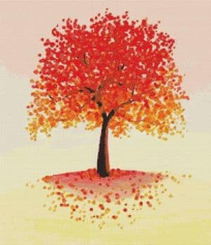 Orange Tree By Emily Luella Cross Stitch Kit