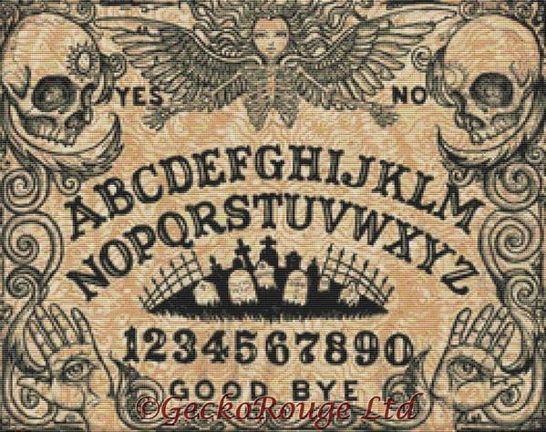 Ouija By Shayne Of The Dead Modern Cross Stitch Art Kit [READY TO SHIP]